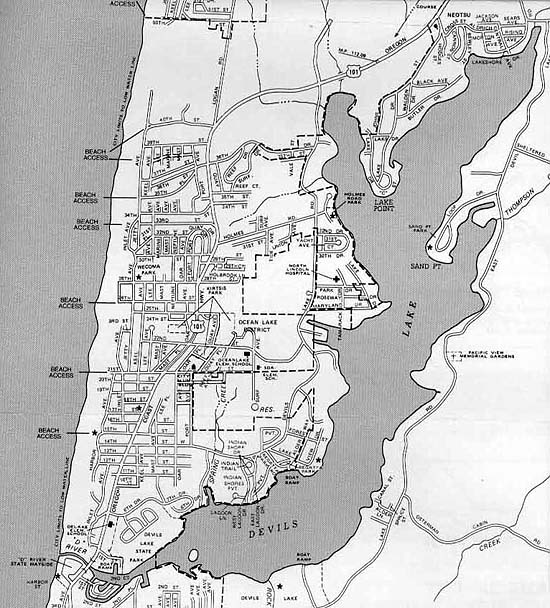 Lake Maps Devils Lake Map on